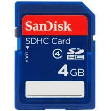 4 GB SDHC Memory Card